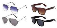 Set Of 4 Classic Sunglasses Combo For Men