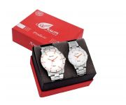 Arum Stylish Silver Trendy Watch For Couple