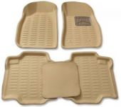 Mp-beige Colour-3d Car Floor Mats Perfect Fit For Maruti Suzuki Wagon R Old