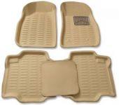 Mp-beige Colour-3d Car Floor Mats Perfect Fit For Mahindra Xuv500