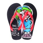 Rexona Mens Flip Flop Slipper Art. Scream Black