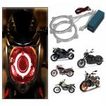 Capeshoppers Angel Eyes Ccfl Ring Light For Hero Motocorp Pleasure Scooty- Red Set Of 2
