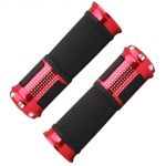Capeshoppers Bike Handle Grip Red For Bajaj Discover 125 T