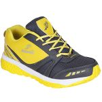 Bachini Yellow Grey Sport Shoes For Men (product Code - 1605-yellow Grey)