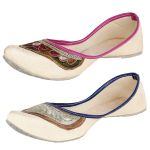 Calaso Womens Gorgeous Golden Embroidered Jutti (code - Ss_226_228)