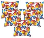 Lushomes Digital Print Creative Butterfly Cushion Covers (pack Of 5)