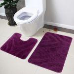 Lushomes Soft Purple Regular Bath Mat Set (1pc Bathmat + 1pc Contour)