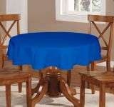 Lushomes Plain Sky Diver Round Table Cloth - 6 Seater