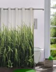 Lushomes Digitally Printed Grass Shower Curtain With 10 Eyelets