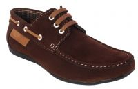 George Adam Mens Synthetic Leather Brown Loafers (code - Ch_2216_brown)