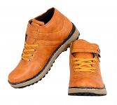 George Adam Mens Synthetic Leather Off Road Tan Boots (code - 402_off_road_boots)