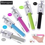 Premium Quality Aux Wired Foldable Monopod Selfie Stick Foruniversal Phn