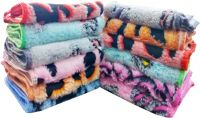 Milap Set Of 12 Cotton Face Towel - Multi Color