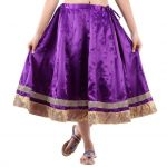 Vivan Creation Shree Mangalam Marti Short Satin Lehenga Free Size (product Code - Smskt606)