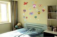 Decals Arts Hot Air Balloon Vinyl Wall Sticker For Kids Rooms Home Decor