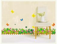 Decals Arts Clover Fence Removable Waistline Decorative Wall Stickers