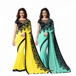 Bhuwal Fashion Multicoloured Chiffon Saree Combos(combo188)