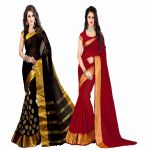 Bhuwal Fashion Multicoloured Polycotton Saree Combos(combo222)