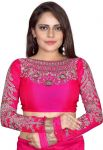Bunny Sarees Cotton Embroidered Blouse Material (unstitched)