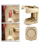Spidy Moto Beige Beverage Drink Cup Bottle Mount Holder Stand - Toyota Corolla Altis Old