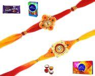 Buy Rakhi Online-pair Of Mauli Rakhi (product Code - Sa123)