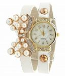 Fap Analog Butterfly Design White Colour Womens Ladies Girls Watch