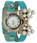 Fap Analog Butterfly Design Sky Blue Colour Womens Ladies Girls Watch