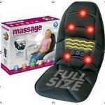 Comfort Products 60-2910 10-motor Massage Seat Cushion With Heat, Black