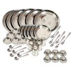 Kitchen Pro 42 PCs Stainless Steel Dinner Set - Silver