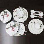 Fortune 32 PCs Melamine Dinner Set, Blossom