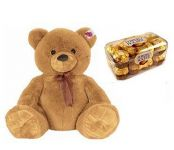 Big Teddy Bear And 16 PCs Ferraro Rocher