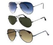 Premium Aviator Sunglasses Combo With Blue,browne,black Colors