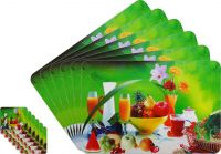 Glassiano Fruits Printed Table Mats - (set Of 6pcs + 6pcs Coaster) (code - Gitm_goldf03)