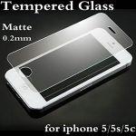 Ikazen Premium Anti-fingerprint Matte Tempered Glass Screen Protector For Apple iPhone 5 5s 5c