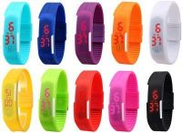 Combo Of 10 LED Digital Watches For Men And Women