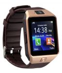 Mobi Fashion Bluetooth And Fitness Tracker Smartwatch With Sim Card & Memory Card Support - Brown