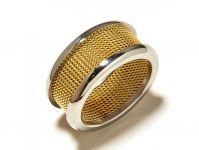 Sanaa Creations Gold Plated Nested Designer Ring For Both Men & Women For Parties-(product Code-1rn152)