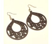 Sanaa Creations Brown Color Hand Crafted Wooden Fancy Earring-(product Code-1ern111)