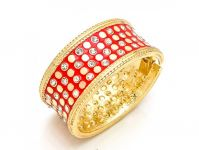 Sanaa Creations Traditional Crafted Bangles,kada With Red Enamel For All Occasions-(product Code-1kd17)