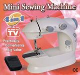 Mini 4 In 1 Mini Portable Sewing Machine Works With Battery & Electricity
