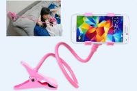 Flexible Long Lazy Metal Clamp Mobile Phone Holder For Smartphones Pink