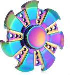 Emob Shining 7 Blades Rainbow Color Fidget Hand Spinner Toy (multicolor)