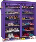 Home Basics Folding Shoe Rack 6 Layers Double