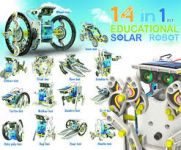 Home Basics Annie 14 In 1 Educational Solar Robot