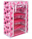 Home Basics 5 Layer Multipurpose Storage Rack Cum Shoe Rack With Cover Cupboard Foldable