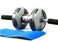 Home Basics Ab Wheel Power Stretch Roller Ab Roller Slider For Abdominal Exercises