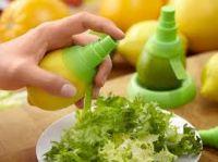 Home Basics Pack Of 2 Citrus Spray Extractor Lime Lemon Mist Fruit Juice Sprinkler