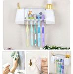 New Wall Suction Cup Absorption Toothbrush Rack Bathroom Brush Holder