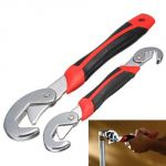 Home Basics Snap N Grip Steel Multipurpose Wrench Set Of 2