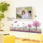 Ay7267 Dynamic Well With Tree And Butterfies Nature Wall Sticker By Jaamso Royals